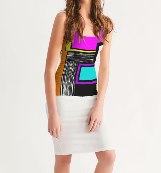 NEVETT-NATION GEOMETRIC PRINT SHEATH