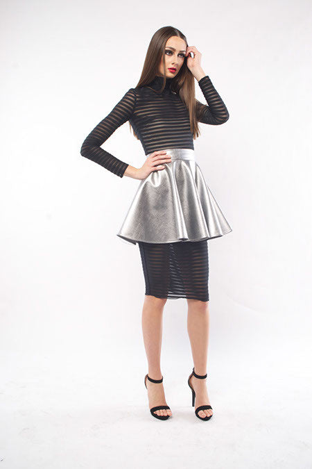 METALLIC FULL SKIRT