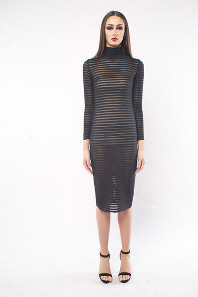 RIBBED MOCKNECK SHEATH