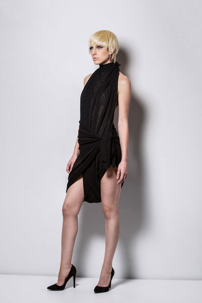 DRAPED SHORT-DRESS