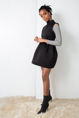 NIGHT MOCK-NECK DRESS