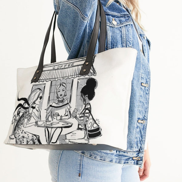 CAFE' PRINT TOTE