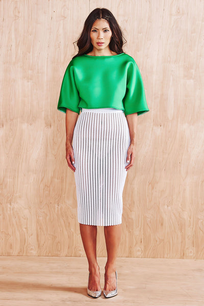 PERFORATED SLN SIGNATURE PENCIL SKIRT