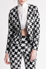 XO SEQUINS ASSYMETRICAL JACKET