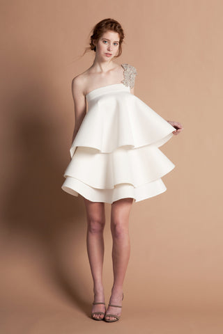 ASYMMETRC BALLOON HEM DETACHABLE SKIRT