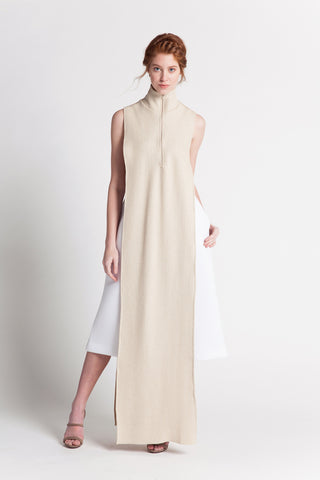 MOCK-NECK MAXI KAFTAN