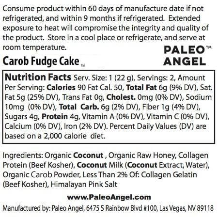 Carob Power Balls nutrition facts