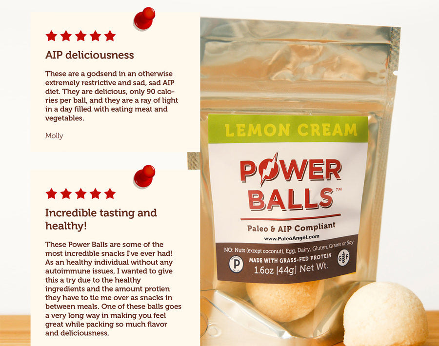 Lemon Cream Pie Power Balls - 4 packs