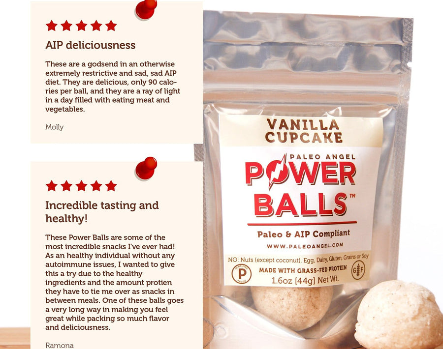Vanilla Cupcake Power Balls - 4 Packs