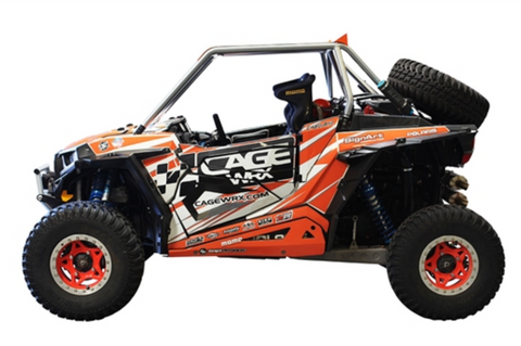"CageWerx RZR XP 1000 ""BAJA SPEC"" ASSEMBLED - RAW FINISH (INCLUDES ROOF)"