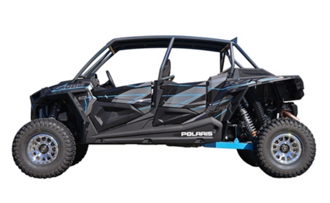 "CAGEWERX RZR XP4 1000 (2019+) / XP4 TURBO S ""SUPER SHORTY"" ASSEMBLED - RAW FINISH (INCLUDES ROOF)"