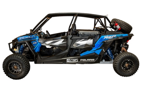"CAGEWERX RZR XP4 1000 ""SUPER SHORTY"" ASSEMBLED - RAW FINISH (INCLUDES ROOF)"