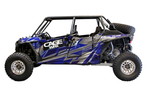 "CAGEWERX RZR XP4 1000 ""BAJA SPEC"" ASSEMBLED - RAW FINISH (INCLUDES ROOF)"