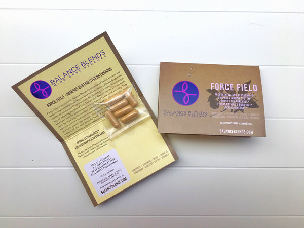 FREE - 3 SAMPLES: Force Field, Just Breathe & Quiet Please (4 capsules each)