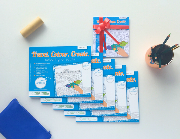 Desk Mat Bundle: | 5 x Desk Mats + FREE 'On The Go' Colouring Book!