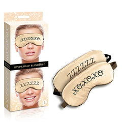 The 9's Reversible XOXO/ZZZ Satin Blindfold