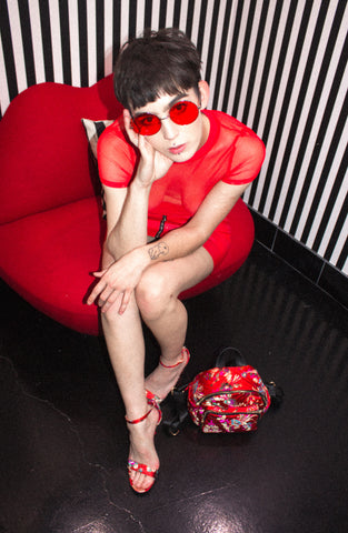 *shown: yoko sunnies, blood moon top, stone fox skirt, adoration mini backpack, spicy china town heels