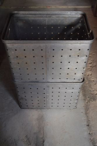 vintage industrial metal Czech Republic crate