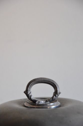 Antique James Dixon & Sons Sheffield Britannia Metal Pewter Warming Dish