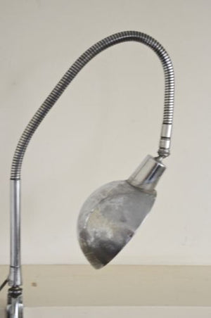 vintage industrial FRENCH JUMO 210 desk lamp with clamp