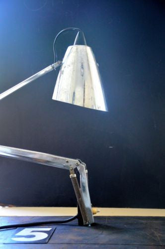 vintage  industrial studio K silver chrome planet lamp