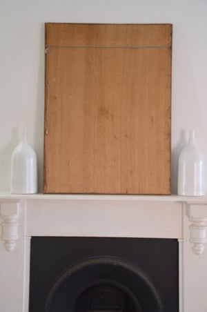 vintage bevelled glass mirror ready to hang baltic timber frame