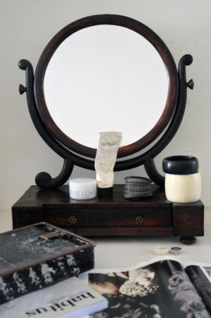 Genuine English Antique Georgian 18th Century single drawer toilet mirror