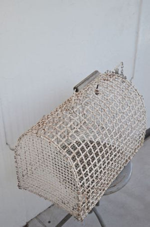 VINTAGE INDUSTRIAL metal cage briefcase animal carrier unique decor