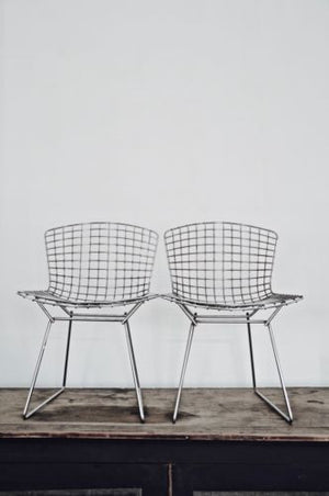 KNOLL Bertoia original chrome 420C industrial side chair