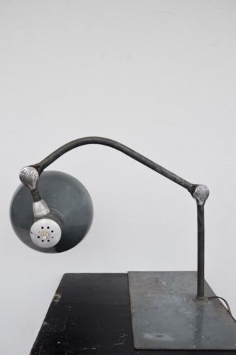 FRENCH Industrial 1960 JUMO GS1 table lamp