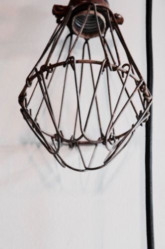 vintage industrial style hanging ceiling cage light