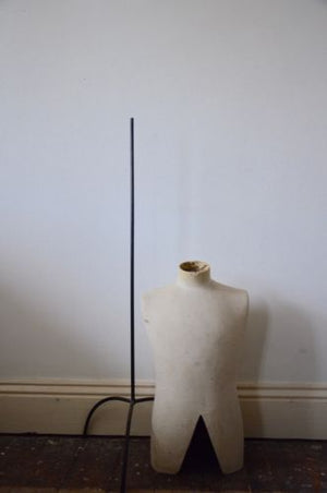 STUNNING antique Tailor's adjustable MANNEQUIN on  METAL stand