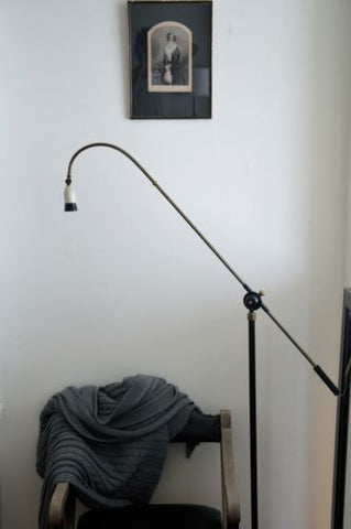 European mid century modern floor standing lamp reading light STUNNING