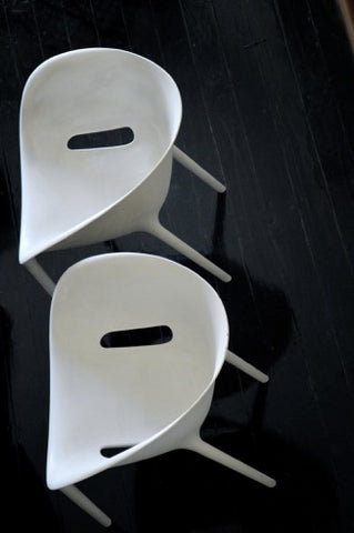 PAIR of original DRIADE SOFT EGG chairs by Philippe Starck WITH MAKERS MARK