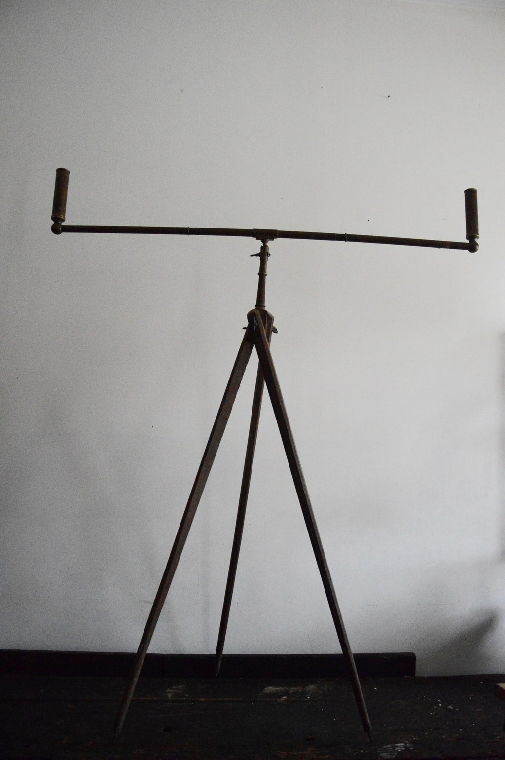 antique spirit burner on tripod