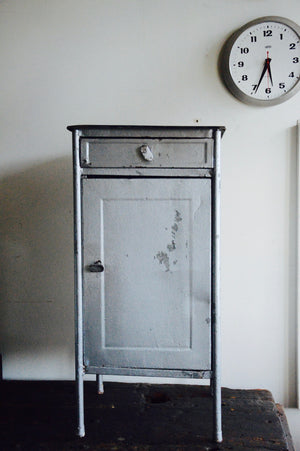 Vintage Industrial Polish medical cabinet
