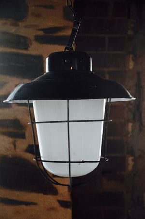 vintage industrial factory warehouse ceiling bunker light - ONE LEFT
