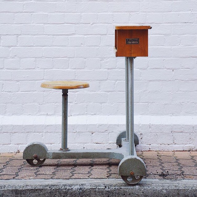 Vintage Industrial mobile workstation