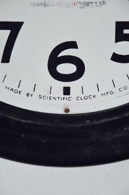EARLY 20th C antique vintage wind up RAILWAY / SCHOOL clock SCIENTIFIC