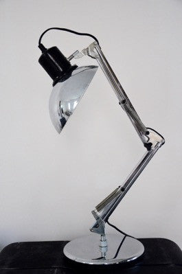 FRENCH Industrial Collectible Table LAMP ALUMINOR Made in France 1960 Anglepoise