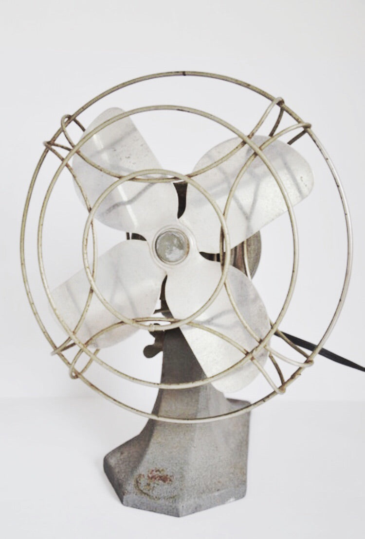Vintage industrial Magic Air desk fan