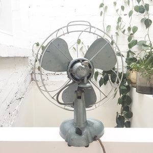 RARE vintage collectible H FROST & CO table / wall fan