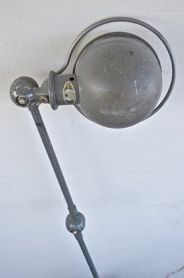 two arm French industrial Jieldé vice lamp