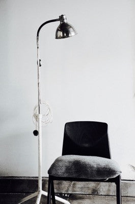 RARE vintage industrial floor standing collectible Hungarian medical lamp lámpe