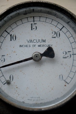 vintage industrial pressure gauge VACUUM Made in England