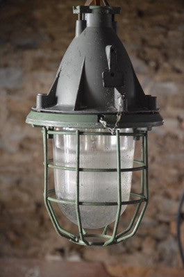 Russian Vintage Industrial Bunker Ceiling Light