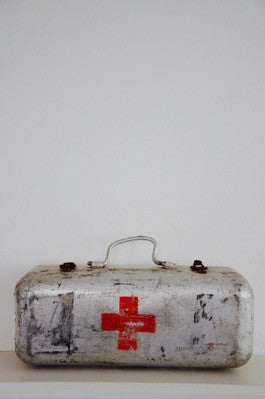 vintage industrial Czech military first aid case 1960s