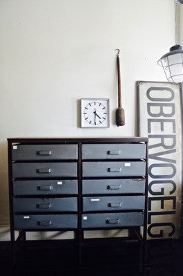 VINTAGE INDUSTRIAL CZECH METAL DRAWERS CABINET STUDIO WAREHOUSE STORAGE