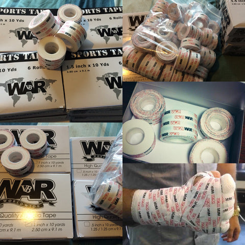 WAR Worldwide premium sports tape