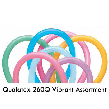 Qualatex 260Q Vibrant Assortment Pack of 100